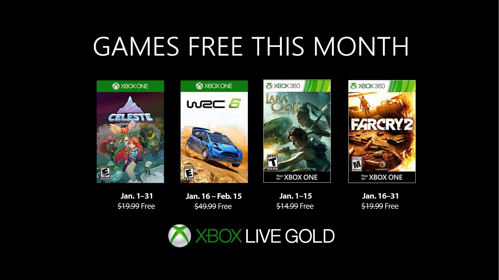 بازیهای رایگان ماه ژانویه Xbox برای کاربران Gold مشخص شدند
