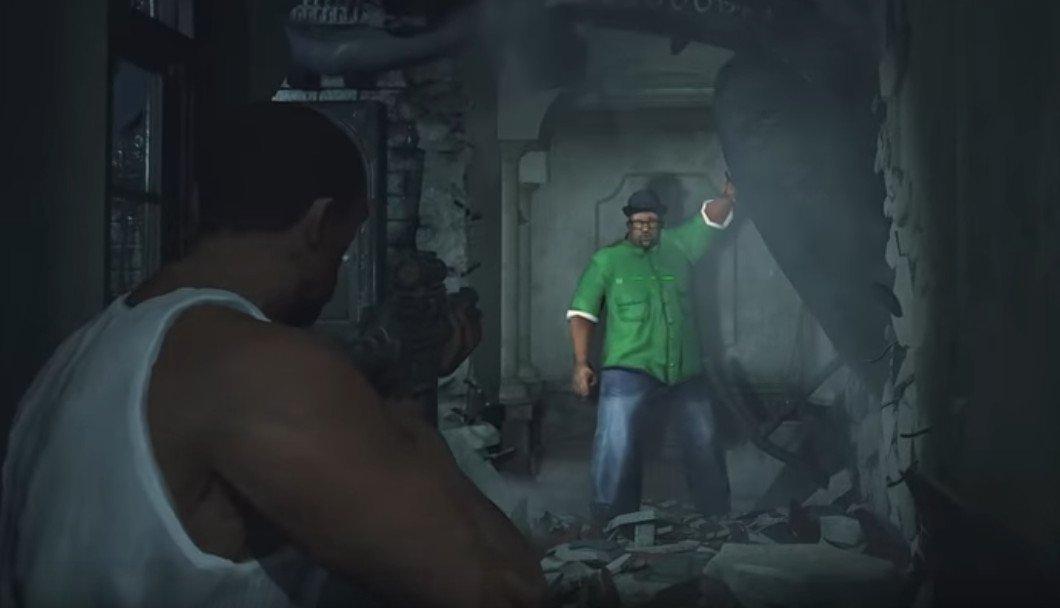 تماشا کنید: ماد جدید Resident Evil 2 شخصیت CJ را با Leon و Big Smoke را با Mr. X عوض میکند