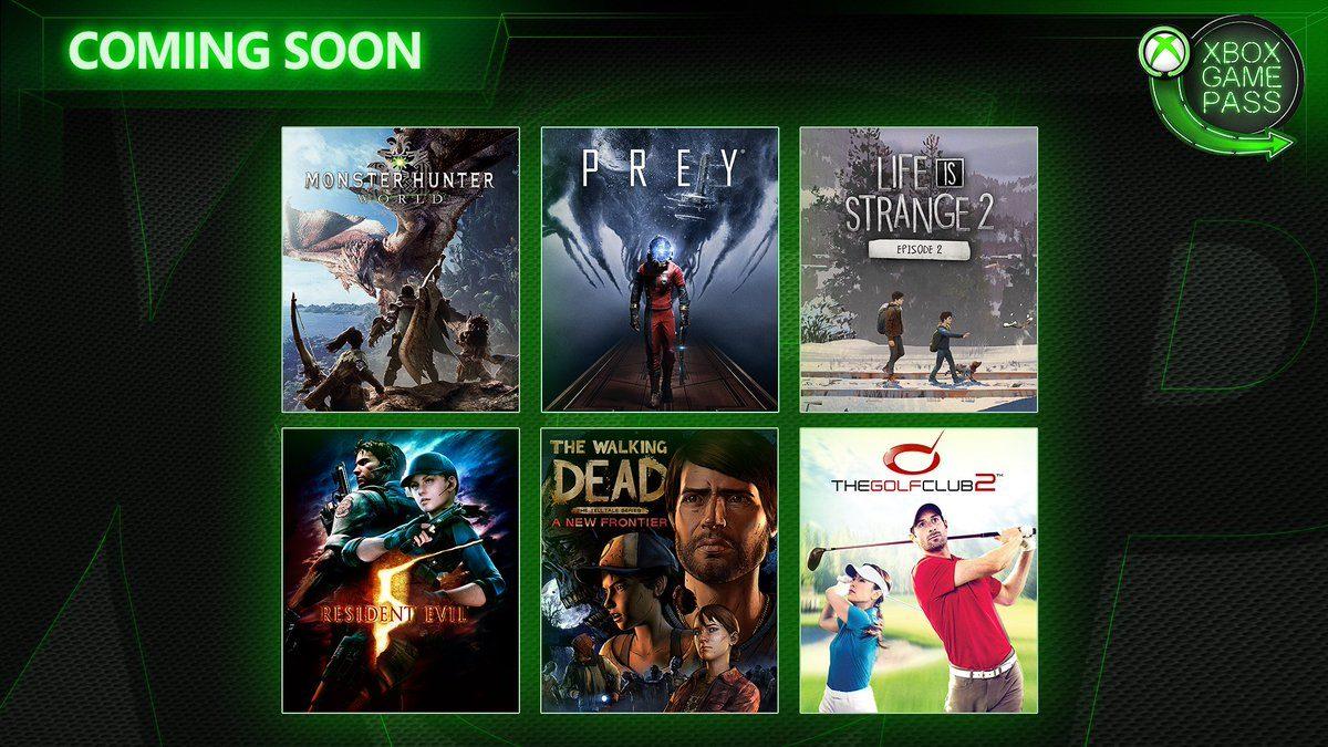 بازیهای Prey، Monster Hunter World و Resident Evil 5 به سرویس Xbox Game Pass اضافه شدند